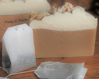 Soap~ Chai Tea Latte, natural,cold process,made with real tea