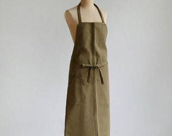 Classic apron – Cotton drill – fawn or khaki