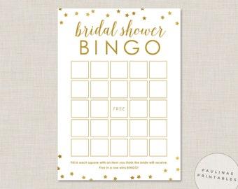 Bridal Shower Bingo Game Printable Shower Game Bingo Cards