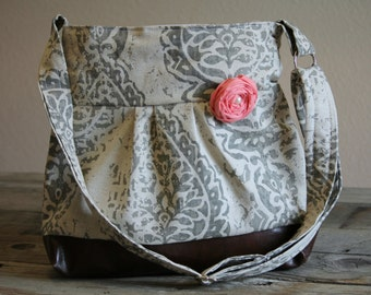 Concealed Carry Purse, Concealed Carry Handgun Purse, Damask, Conceal Carry Handbag, Concealed Carry Purse, Conceal and Carry, Messenger Bag