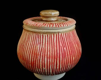 Carved Lidded Container