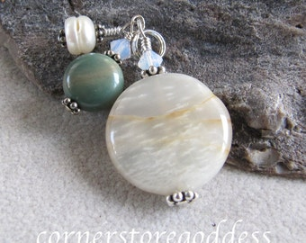 Earth Water Sky Charm Zipper Pull by Cornerstoregoddess