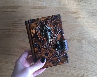 Steampunk Journal, Leather Journal, Leather Notebook, Travel Journal, Gothic Journal