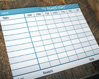 Magnetic Daily Tasks Rewards Chart, Customizable Dry Erase Reward Chart, Reward kids for good behavior and manners, Boys behavior chart
