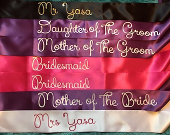 Hen party sash, Bride to be sash, Bridal sash, hen sash, Bride sash, wedding sash,Bridesmaid sash, bachelorette sash, personalised sash
