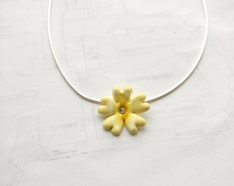 Primrose pendant with sterling silver chain