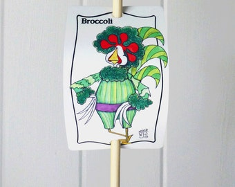 Vegetable Sign Broccoli for Gardens Decor Urban Farming Aluminum Marker