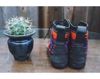 Pendleton Leather Booties
