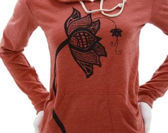Lotus Flower | Lightweight Pullover hoodie | Soft organic cotton blend |  Zen