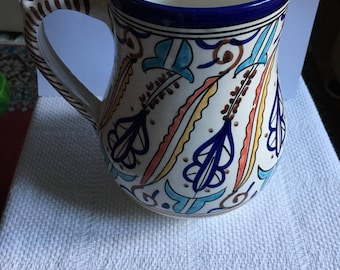 Pitcher Hand Painted