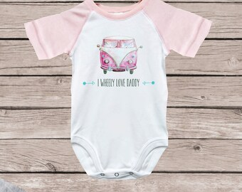 Daddy's Girl, Daddy Bodysuit, Daddy Shirt, Father's Day Gift, New Dad, Daddy's Little Girl, Baby Shower Gift, Baseball Tee, Pink, Cotton