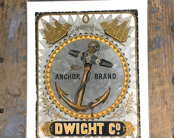 Antique Dwight Company Anchor Brand Cigar Advertising Nautical Tobacco Advertising 1910s Anchor Brand Cigar Sign