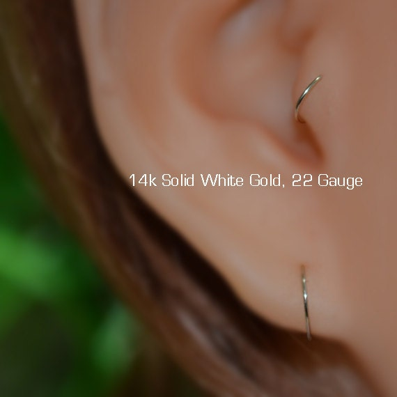 Nose Ring Hoop Nose Ring Solid Gold Nose Stud Helix