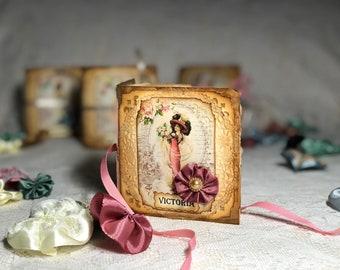 Micro mini Junk Journal-vintage-Victoria-Katharina-Elisabeth-Anastasia