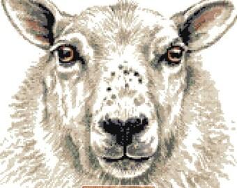 Sheep (v2) counted cross stitch kit
