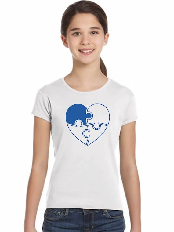 Girl t-shirt or body PUZZLE HEART