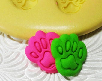 DOG PAW Mold Flexible Silicone Push Mold for Resin FIMO Wax Fondant Clay Fimo Ice