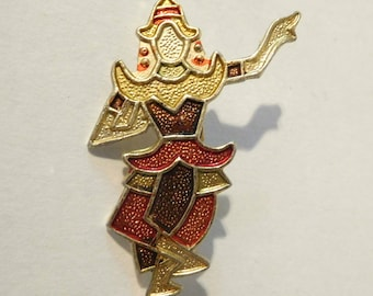 SIAM DANCER PIN - Brooch Jewelry - Metal - Marked: Hong Kong
