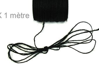 Black 2 mm hemp cord