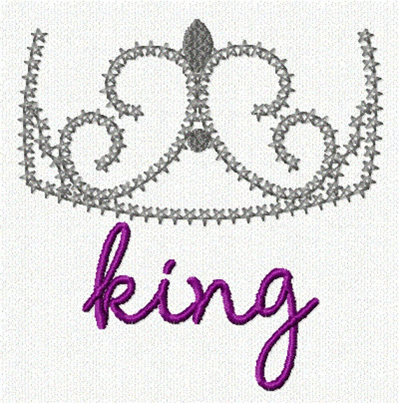 King Delicate Crown 1 Embroidery Design