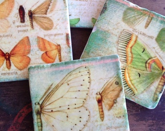 Breath of Spring  coasters - stone coasters - immediate shipping