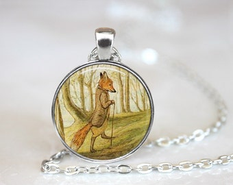 Tale of Mr Todd Fox Jewelry, Beatrix Potter Necklace, Fox Jewelry, Fox Necklace