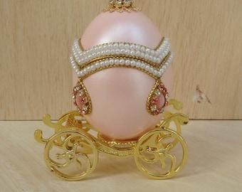 1 pcs Decorated Egg EleganceJewelry Box.Pink.(E002)
