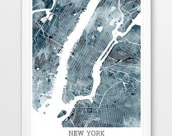 new york city urban map poster new york city street map print new york