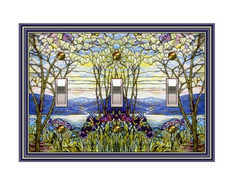 0460x Stained Glass Image (faux) - mrs butler switch plate covers -