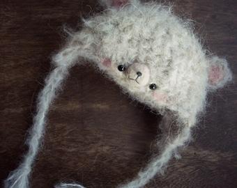 Beanie Hat Blythe Pullip crochet Alpaca
