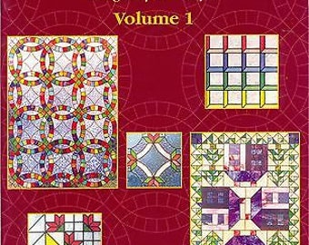 Aanraku AMERICAN QUILTS Volume I Stained Glass Pattern Book Fusing