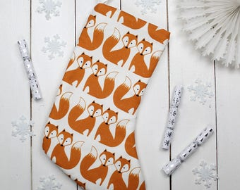 Décoration de Noël animaux renard Foxy bas de Noël