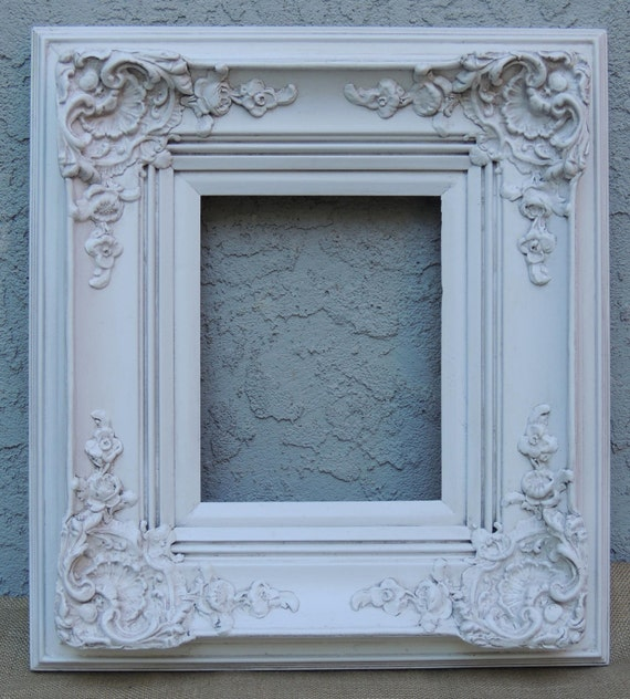 White Picture Frames, 8 x 10 Frame, Ornate Picture Frame, White Wood ...