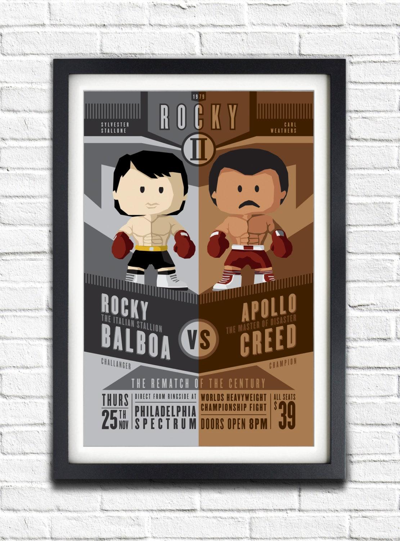 Rocky 2 Rocky vs Apollo The re-match 19x13 Poster