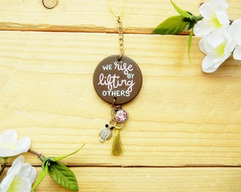 We Rise By Lifting Others Car Quote; Quotes about Kindness, Vehicle Accessories, Vehicle Ornaments, Quotes About Life, Cute Car Accessory