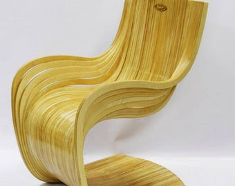 Parametric chair. wood, wooden chair, vector graphics,laser,DXF