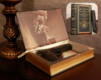 Hollow Book Gun Safe - The Constitution of the USA - Secret Book Safe