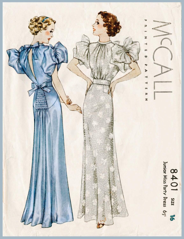 1930er Jahren 30er Jahre Vintage Abend Kleid Kleid