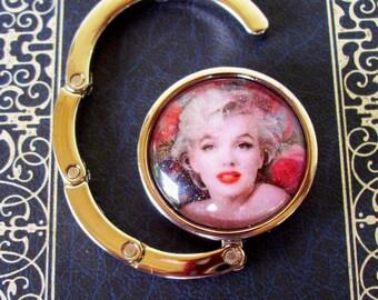 Marilyn Bag Hanger (H703), Purse or Bag Hook, Graphic under Glass, Marilyn Monroe