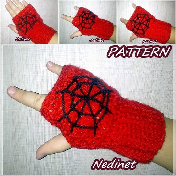 Spiderman Fingerless Gloves Crochet Pattern Crochet Fingerless