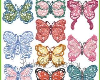 Free-Standing Lace Butterflies