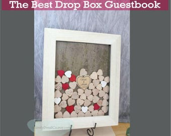 alternative guestbook drop box guest book white guestbook frame drop a heart styler drop box drop top rustic wedding drop box wedding box