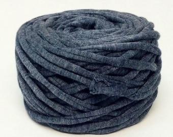 dark grey T-shirt yarn gray wool silk gray yarn grey medium grey gray blue Zpagetti tshirt yarn Necklaces Bracelets