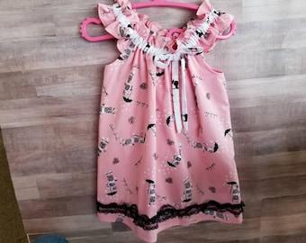 Little Girl's Pink poodles Dress 2T