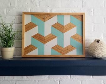 Wood Wall Art Rosie Tessellation - Medium