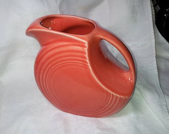 Fiestaware large disc pitcher, coral