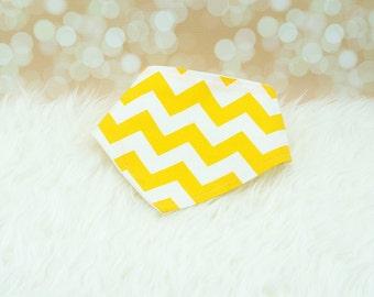 60% OFF SALE! Baby Bandana Bib - (Big Yellow Chevron) ||| bibdana, dribble bib, bandana bib sale, bibdanna, baby bibdana, baby shower