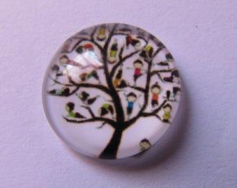 glass cabochon 14mm theme tree