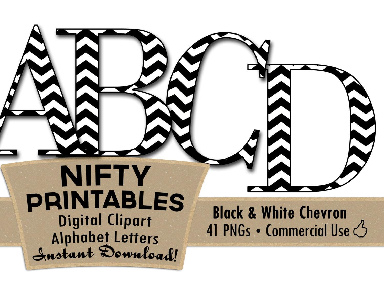black white chevron clip art alphabet letters black white rh etsy com alphabet letters clip art with designs alphabet letters clip art black and white