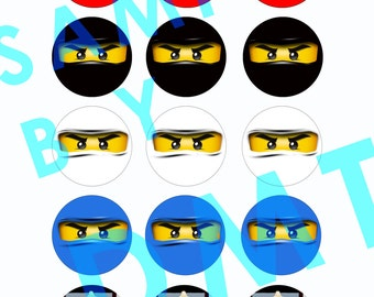 DIY Ninjago Face Cupcake Toppers